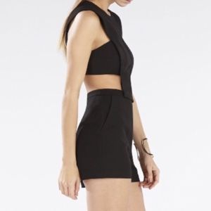 BCBG Black Romper with Cut Outs